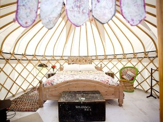 Two Yurts With Stunning Views And Luxury Bed And Linen