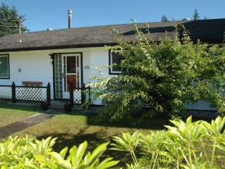 Three bedroom Family Vacation Home is close to all of Sechelt's many amenities.