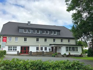 Large group house in Sauerland with a private spa, garden and terrace