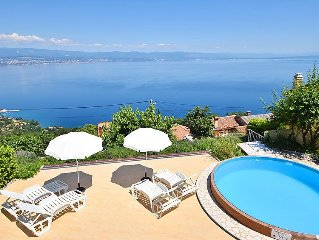Vacation home Panorama  in Lovran/Tulisevica, Kvarner - 10 persons, 4 bedrooms