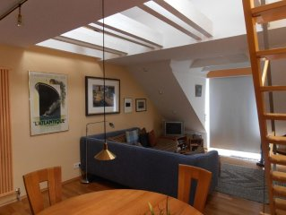 Very high quality furnished apartment in the attic Non smoking with 1 bedroom w