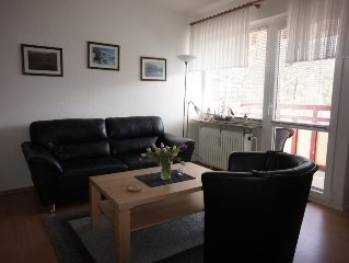The Non smoking 1-room apartment is located in the first Floor towards the east