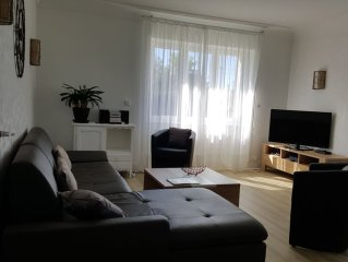 Great house on land of 1000m2, 150m from the beach, 4 bedrooms, WIFI, TV SAT