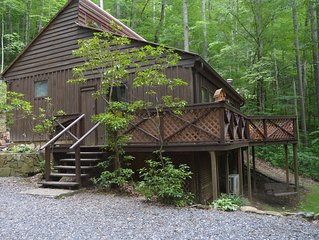 REDUCED PRICE all Aug. dates left-creekside cabin 15% off week of Sept.22-29
