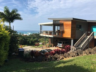 10% off  July/Aug. Contemporary, architect designed new house with ocean views.