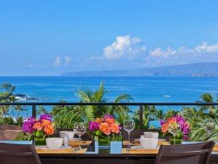 4TH FLOOR PANORAMIC OCEAN VIEWS! Mer Et Soleil K408 at Wailea Beach Villas