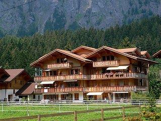 Ferienwohnung Schweizerhof  in Kandersteg, Berner Oberland - 2 Personen, 1 Schla