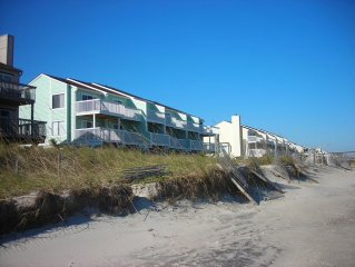 Ocean Front Condo at Kure Beach, NC, 2br, 2ba - book now for 2018