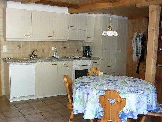 Apartment Chalet Kreuz, Fewo I  in Saxeten, Bernese Oberland - 2 persons, 1 bed