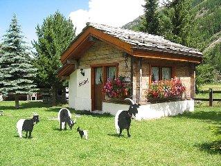 Ferienhaus Häuschen Stadel  in Saas - Grund, Wallis - 2 Personen, 1 Schlafzimmer