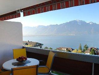 Ferienwohnung Residence Bellevue  in Montreux, Genfersee - 4 Personen, 1 Schlafz