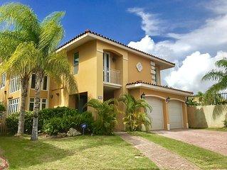 Beautiful luxurious spacious Spanish-style Villa In Gated Community Near Beaches