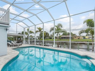 Large Home, heated pool/hot tub on the Water with Gulf Access & Southern Exposu