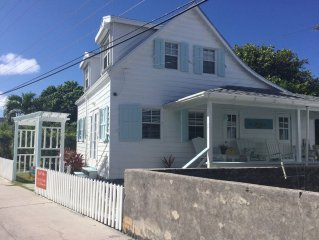 Bahamian Cottage located in Hope Town on Elbow Cay, AC with backup generator
