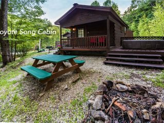 Mountain serenity close to hiking, rafting, fishing and kayaking.  'Coyote Song'