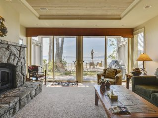 Upscale Sweetbriar Lakefront Home with Private Deck Overlooking Tahoe!