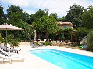 Beautiful stone cottage with heated pool in charming village