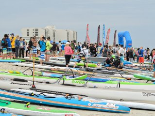 Paddle boarding is a popular event around Wrightsville Beach and is home to the Carolina Cup SUP Race.