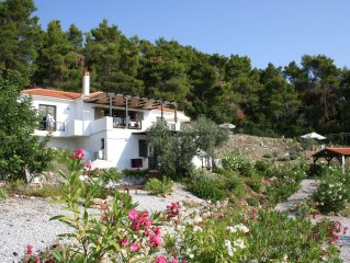 Stunning  House in The Pines and Olives,Overlooking The Islands and The Sea