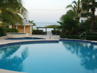 Tropical escape steps away from warm Caribbean beaches, snorkeling and diving.