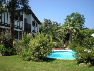 Large house with pool between Saint-Jean de Luz and Hendaye