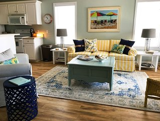 Perfect location in  remodeled unit.  Surf, watch and listen to the ocean!