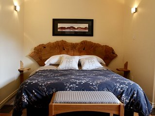 the Artful Suite - boutique accommodation with handmade furnishings & art.