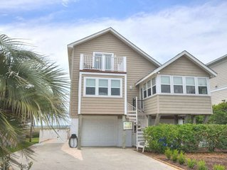 2 Cool-Beautiful,4 Bdrm/2 Bath Waterfront Home in Caswell Beach-Sleeps 14