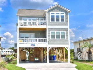 1 Coastal Escape-BRAND NEW 2015!5 Bdrm/4 Bath,2nd Row Home w/Private Pool-Sleeps