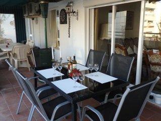 Ferienwohnung mit ca. 120 m2 herrlicher Terrasse , 200 m zum Strand, 6 Pers.