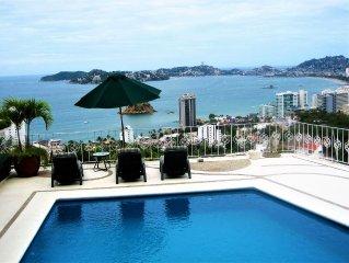 Designer Villa W/ Spectacular  Acapulco Bay Views