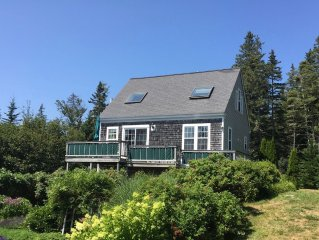 Charming Cottage with Great Ocean Views  in Quiet Wooded Setting near Acadia