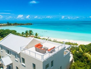 Villa Blue Heaven -  On Best Beach!  -  Turquoise Views/Pool/Sunsets