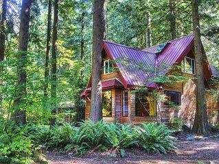 Magical Riverfront Retreat with Hot Tub, Sauna, 3 Cabins! Unique Charm!