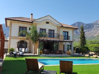 Large Luxury Villa With Private Swimming Pool In Lapta, North Cyprus.