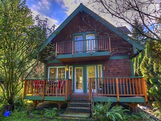 Cute & Cozy River Cabin w Hot Tub & Views! Pets OK! Relax in the HOT TUB!