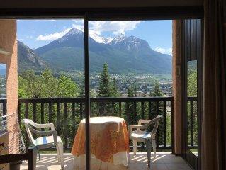 Studio lumineux et calme - 2 à 4 personnes - Briançon (Hautes Alpes)