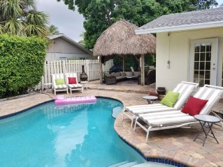 Can you say Tiki hut and salt pool.  1mile from Atlantic ave and beach.