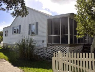 Quiet Shores:  Pet friendly, large yard, marsh view, shallow canal.