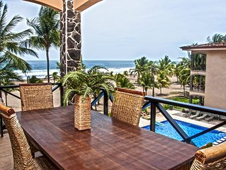 Stunning penthouse, balcony with outdoor dining, ocean views & private deck!