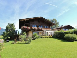 A holiday home in a very convenient position with good views of the mountains.