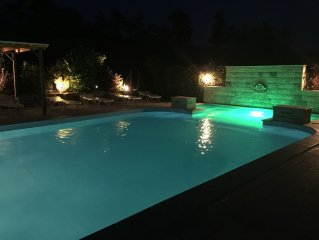 Barn with pool
