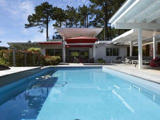 Villa wood architect. conditioned. heated pool. WIFI