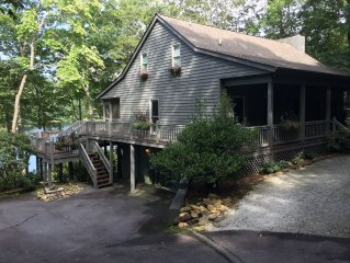 Lake Toxaway Lakefront, Mountain Escape | Private Setting | 3 BR/3 BA | Sleeps 6