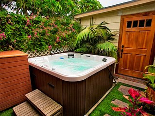 Tropical Paradise Only Steps to Beach w/ Private Yard & Hot Tub