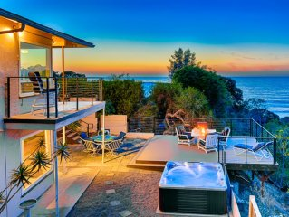 20% OFF JULY - Sweeping Ocean, Cove, and Sunset Views w/ Private Spa & Deck