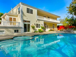 15% OFF to 6/15 - Ocean View Estate w/ Private Pool+ Hot Tub, Walk to Village