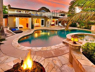 Stunning Home w/ Pool & Spa, Firepit, & Walk to Beach