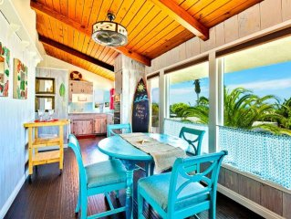 Beach Cottage w/ Peek-a-Boo Ocean View, Walk to Water + A/C