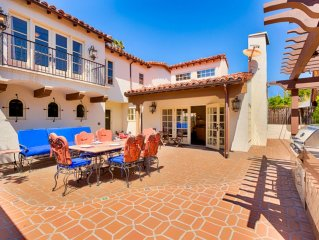 15% OFF JULY! Spanish Style Home, Steps to Beach w/ Rooftop Deck